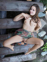 Sexy young Taissia outdoors 11