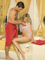Jenny Hendrix and Johnny Castle enjoy a warm bath and a hot fuck. This girl took one look at Johnny's johnson and she threw hers 01