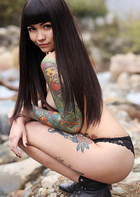 Tattooed Young Amazon Violet Rose