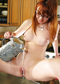Marie McCray Naughty Babe Strip Off In Kitchen