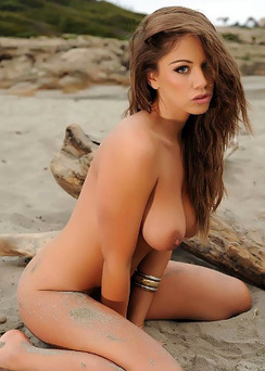 Emm Frain Nude In The Sand