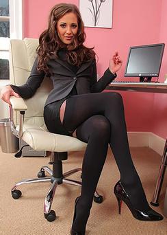 Beautiful Brunette Secretary