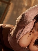 Taylor Vixen opens up her fluffy pink jacket  11