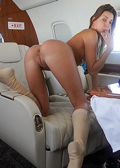 Maria On A Private Jet